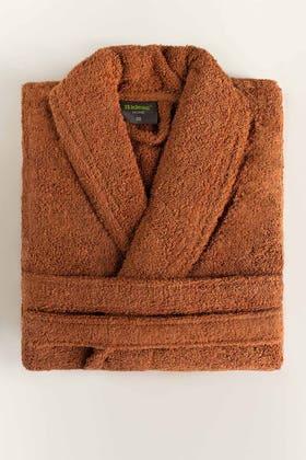 Brown Combed Bathrobe