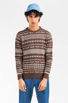 Brown Fashion Sweater FS-SWT-FD-401-01