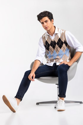 Brown Fashion Sweater SL-SWT-FD-33-01