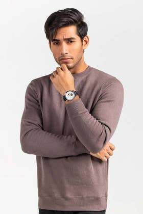 Brown Fashion Sweatshirt JKT-MSS-D29-02