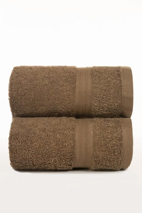 Brown Dyed Anti-Microbial Sports Towel