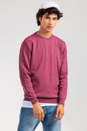 Cerise Basic Sweater FS-SWT-D34-01