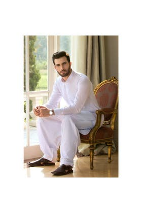 White Basic Suit SKP-881 Chairman Latha