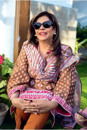 3PC Unstitched Printed Suit With Printed Lawn Dupatta CL-1082 B