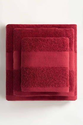 Claret Combed Towel Plain