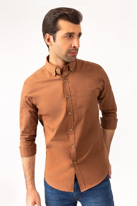 Brown Twill Shirt CM-PD-449 CS