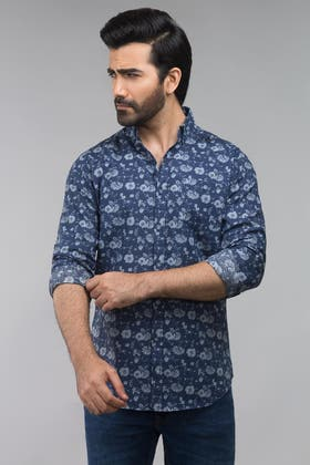 Navy Sky Casual Shirt CM-YD-2581