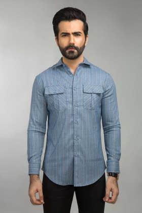 Sky Blue Casual Shirt CM-YD-2654