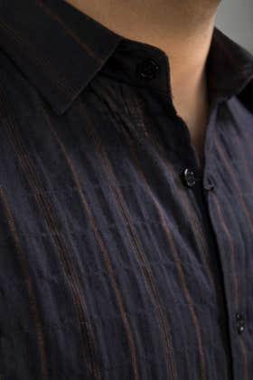 Navy Rust Casual Shirt CM-YD-2662