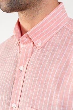 Pink Linen Shirt CM-YD-2839 CS