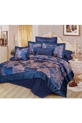 Cobalt Jacquard Bed Set