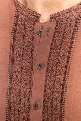 Copper Embroidered Kurta KE-1427