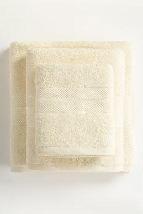 Cream Combed Towel Plain