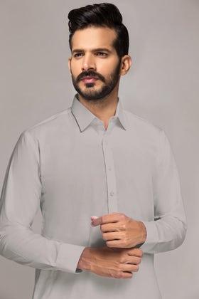 Light Grey Esso Latha-JA Unstitched Fabric
