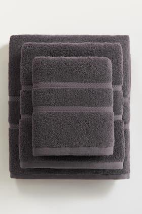 Dark Grey COMBED TOWEL PLAIN