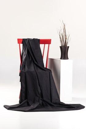 Black Unstitched Fabric Optima Latha