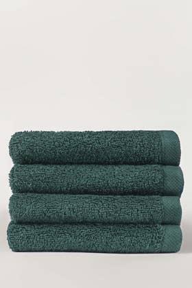 Deep Lake Combed 4 Pcs Face Towel Set