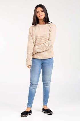 Soft Acrylic Crew Neck Sweater WG-SWT-W21-007 B