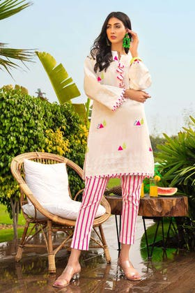2PC Unstitched Lacquer Printed  Lawn suit TL-354 B