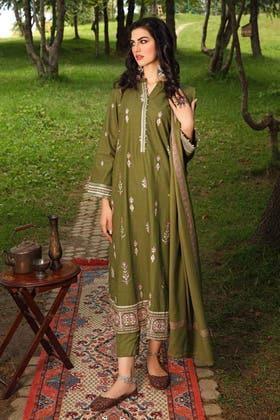 3PC Unstitched Pashmina Shawl Suit AP-12028