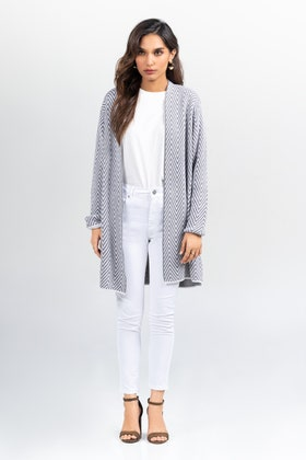 Cotton Front Open Cardigan SWT-FW21-006 A