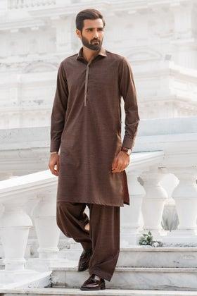 Stitched Blended Shalwar Kameez Suit - MSU-05-B