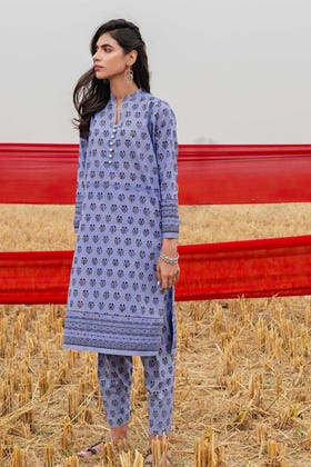 1PC Unstitched Printed Lawn Fabric SL-889 A