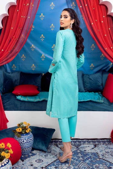 2 PC Lawn Unstitched Glitter Printed Suit FE-12207
