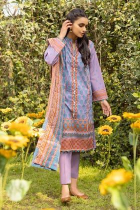 3 Piece Unstitched Lawn Printed Suit CL-1266 A