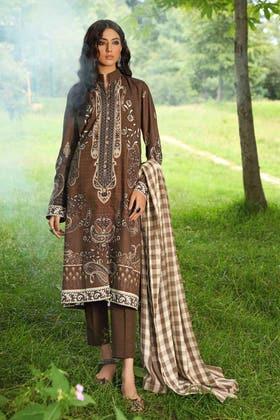 3PC Unstitched Pashmina Shawl Suit AP-12034
