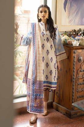 3 Piece Unstitched Lawn Printed Suit CL-1267 B