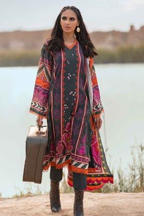 3PC Unstitched Khaddar Suit With Digital Cotton Viscose Dupatta CV-12010