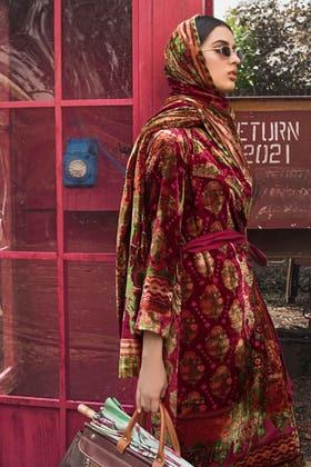 3PC Unstitched Velvet Suit With Velvet Dupatta BVL-12009 A