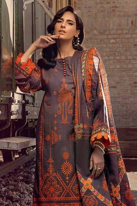 3PC Unstitched Digital Printed Khaddar Suit K-12026 A