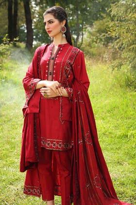 3PC Unstitched Pashmina Shawl Suit AP-12071