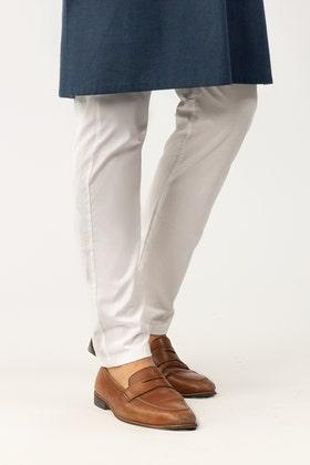 Ethnic White Pajama PJ-18