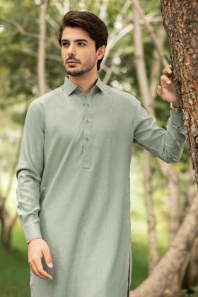 Light Green Unstitched Fabric OPUS ARZ