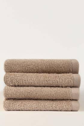 Fawn Combed 4 Pcs Face Towel Set