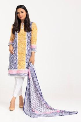 Cambric Printed Shirt with Lawn Printed Dupatta WGK-LWS-DP-259