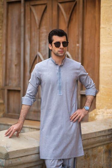 Stitched Blended Shalwar Kameez Suit - Opus Heritage MSU-14