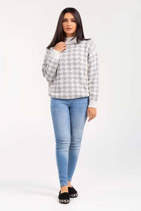 Cotton High Neck Pull Over Sweater  SWT-FW21-033 A