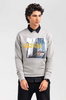 Fog Grey Fashion Sweatshirt JKT-MSS-D24-01