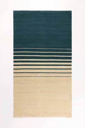 FRINGE BLUE Yarn Dyed Rug