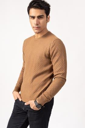 Brown Fashion Sweater FS-SWT-VPN-FD-221-01