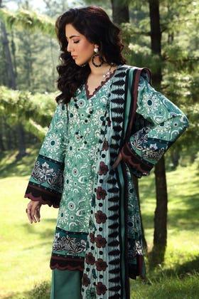 2PC Unstitched Digital Printed Khaddar Suit TK-12013 A