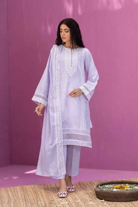 Lawn Dyed Embroidered Shirt with Lawn Dyed Embroidered Dupatta WGK-LWS-DE-406