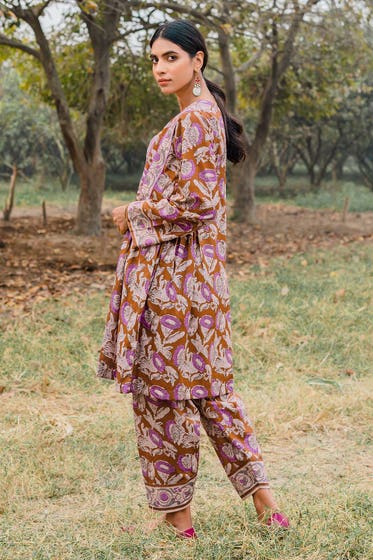 1PC Unstitched Printed Lawn Fabric SL-887 A