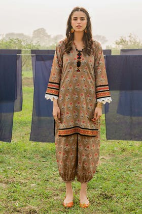 1PC Unstitched Printed Lawn Fabric SL-892 A