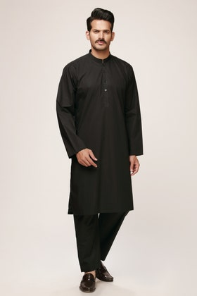 Black Unstitched Fabric  Summer Cool