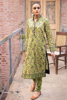 2PC Unstitched Printed Lawn Shirt With Printed Trouser TL-346 A